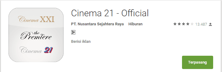 aplikasi cinema21 android