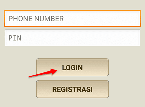 login ke m-tix di android