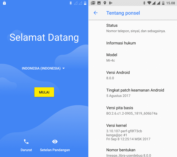 Ganti ROM China Mi4C Kamu Ke Android Oreo Bahasa Indonesia