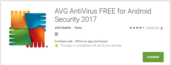 AVG AntiVirus FREE for Android Security