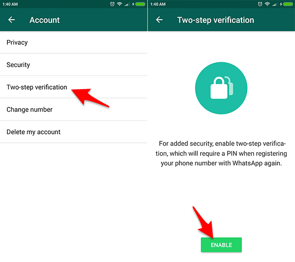 Akifkan Fitur Two-step Verification