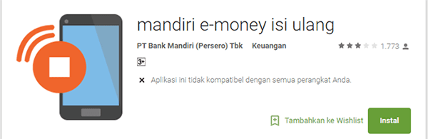 mandiri e-money isi ulang