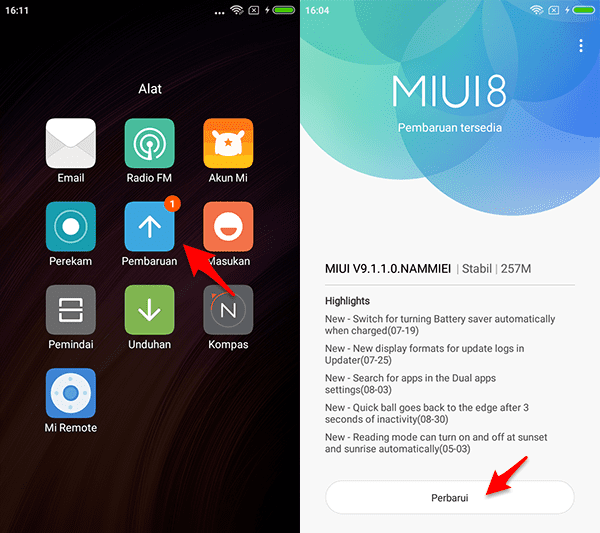 update miui 9 redmi 4x