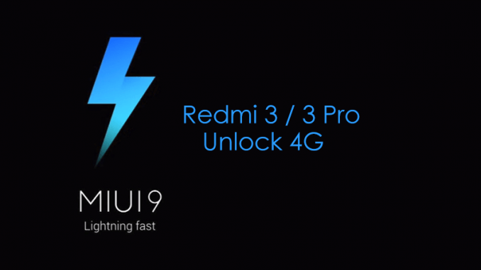Cara Update Redmi 3 / 3 Pro (Ido) Ke MIUI 9 Global Dev, 4G Aman!