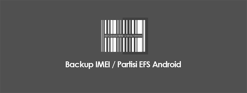 Cara Backup Dan Restore IMEI (Partisi EFS) HP Android Tanpa PC