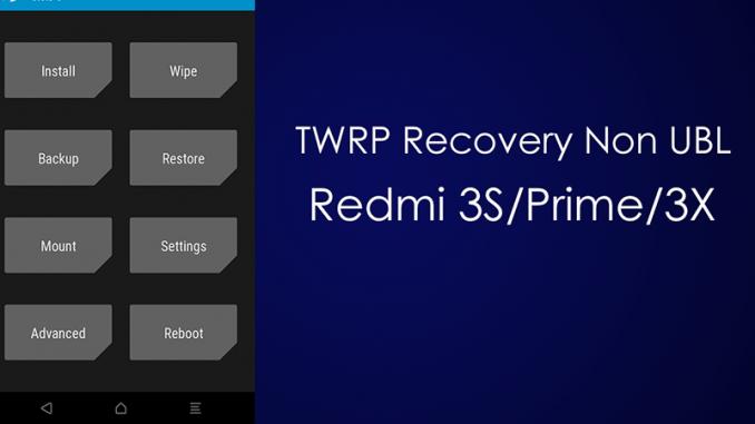 Cara Pasang TWRP Dan Root Redmi 3X/3S/Prime (Land) Tanpa UBL