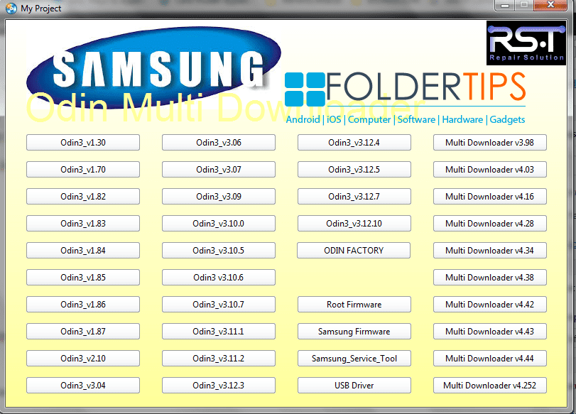 Cara Install / Flashing Firmware Semua HP Samsung Via ODIN Flasher