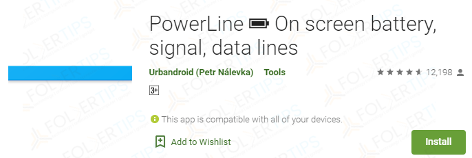 PowerLine: On screen battery, signal, data lines